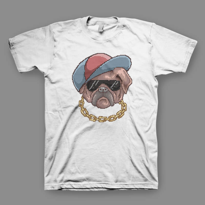 Pug Life tshirt design buy t shirt design