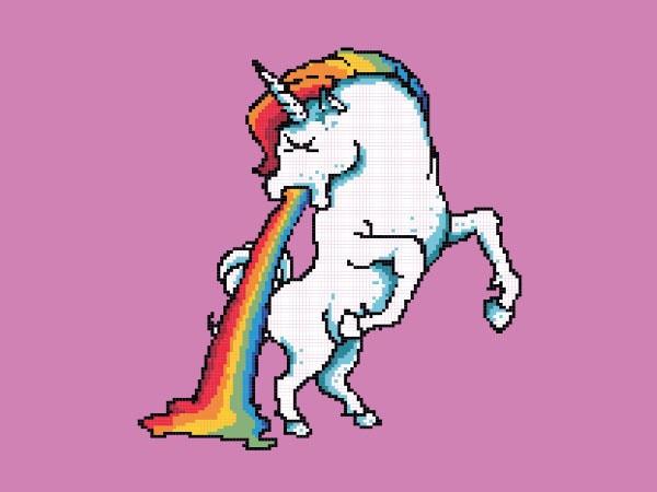 Puke Of The Unicorn tshirt design buy t shirt design