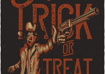 Trick or treat. Vector T-Shirt Design buy t shirt design