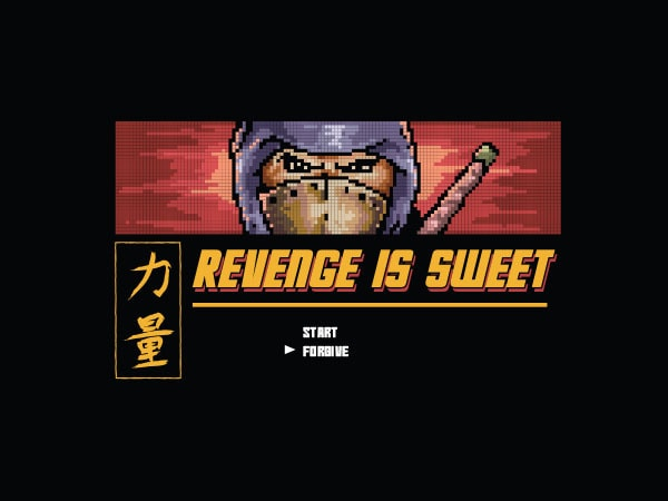 Revenge Is Sweet Vector t-shirt design