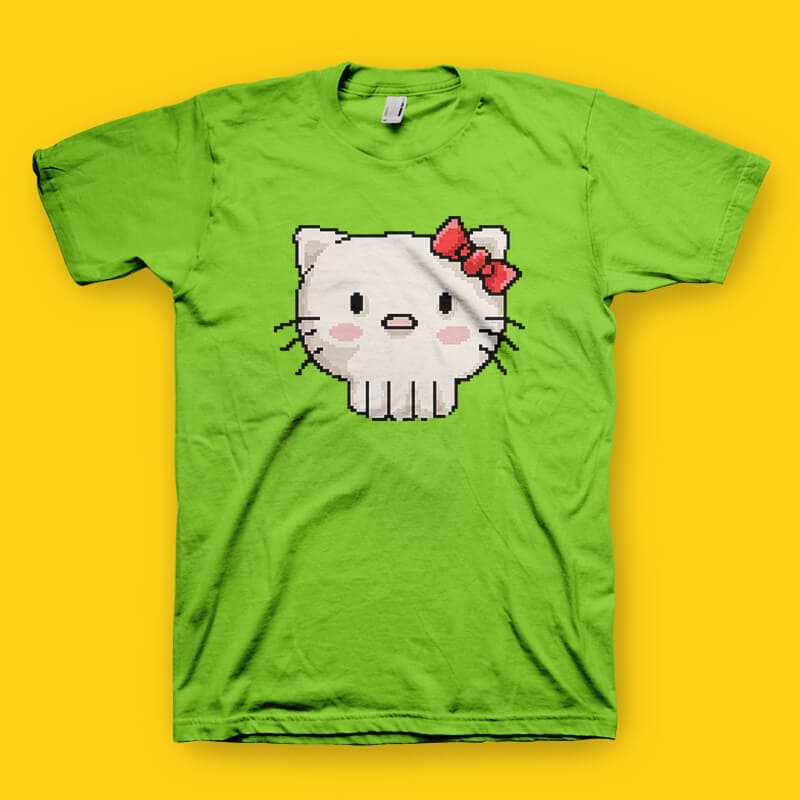 Skull Kitty tshirt design buy t shirt design