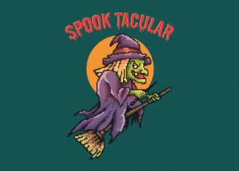 Spooktacular Witch tshirt design