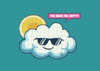 Summer Happy Cloud tshirt design t shirt template