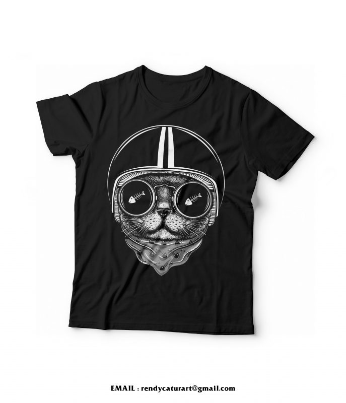 cat rider tshirt design buy t shirt design
