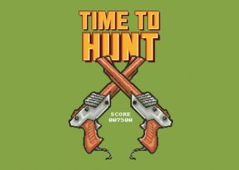Time To Hunt Vector t-shirt design