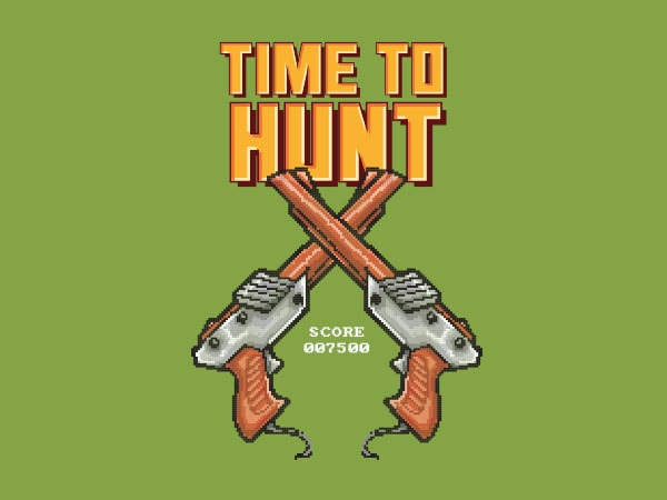 Time To Hunt Vector t-shirt design buy t shirt design