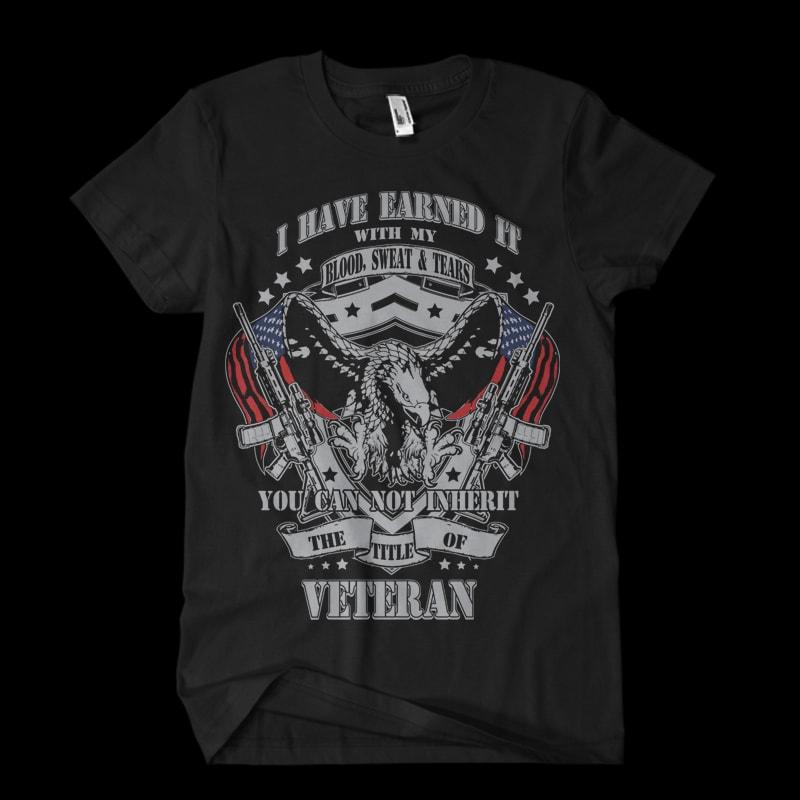 USA Flag Veteran buy t shirt design