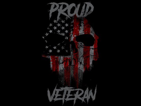 Proud Veteran t shirt illustration