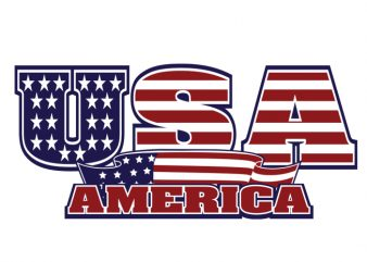 usa t shirt vector graphic