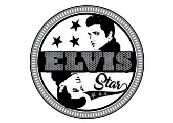 Elvis the King buy t shirt design