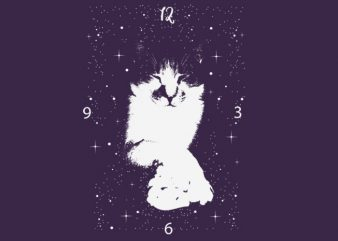 cat clock buy t shirt design