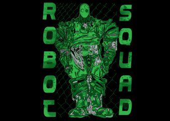 robot squad buy t shirt design