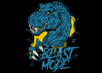 T-Rex Beast Mode buy t shirt design