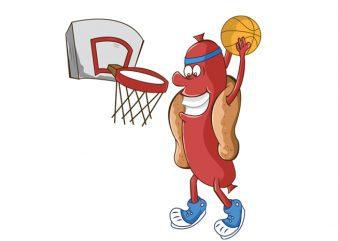 Basketball hot dog t shirt template