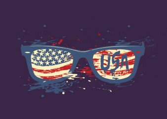 USA sunglasses buy t shirt design