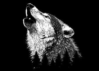 Wolf buy t shirt design