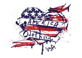 USA Heart buy t shirt design