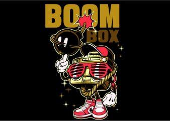 Boom Box t shirt template