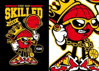 Basketball Character t shirt template