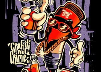 GRAFFITY NOT CRIME t shirt vector