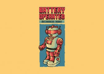 Vintage 80's Robot tshirt design buy t shirt design