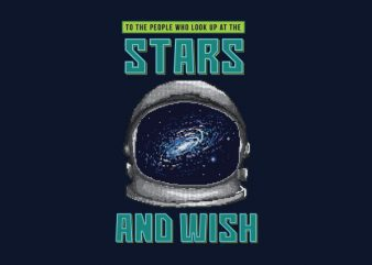 Wish Of The Stars Vector t-shirt design