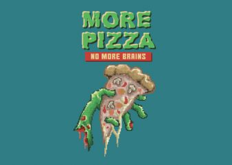 Zombie Pizza Vector t-shirt design t shirt template