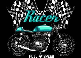 cafe racer tshirt design