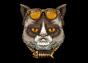 Cool Cat Tshirt Design