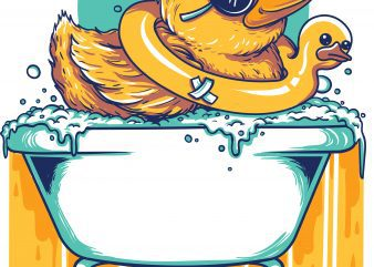 bathing duck vector tshirt design buy t shirt design