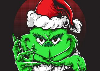 Grinchy Claus t shirt design template