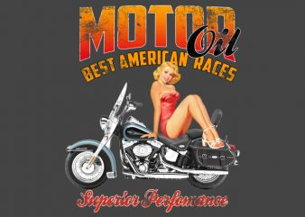 PinUp Motor Girl tshirt design buy t shirt design