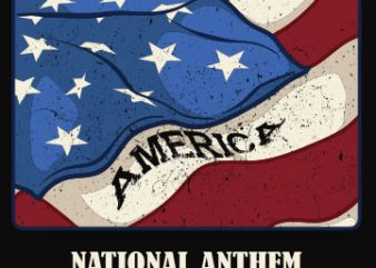 National anthem buy t shirt design
