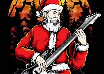 Rocker Santa t shirt design online