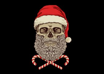 Santa Skull T-Shirt Design buy t shirt design