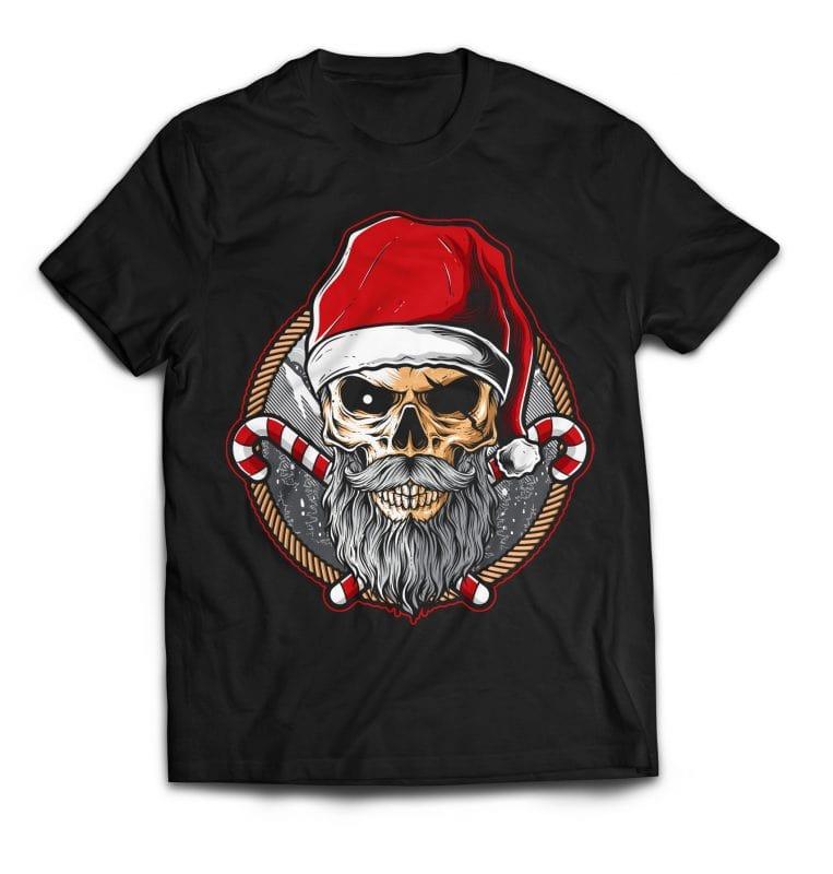Skull Santa buy t shirt design