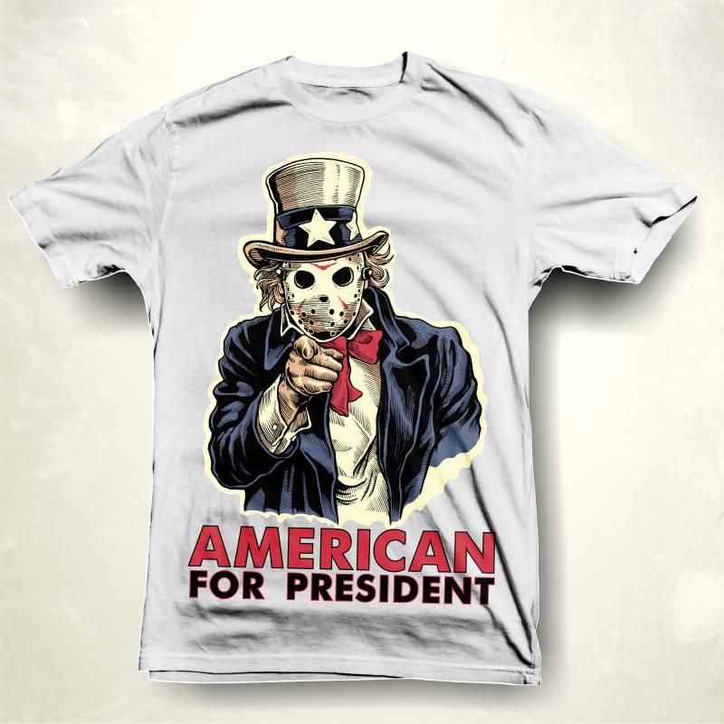 American for president buy t shirt design