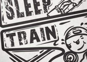 Eat,sleep,train buy t shirt design