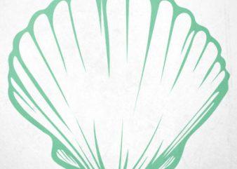 Seashells bra t shirt template vector