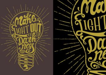Light out t shirt vector graphic