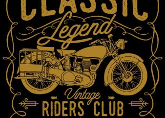 Classic Legend t shirt vector file