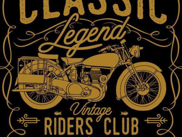 Classic Legend t shirt vector file