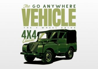 The go any where vehicle t shirt designs for sale