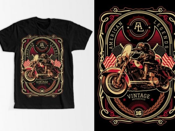 American Legend t shirt vector