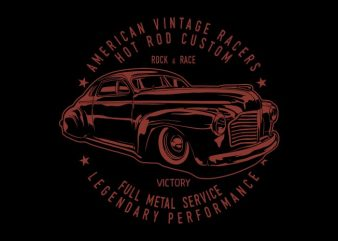 Hot rod custom graphic t shirt