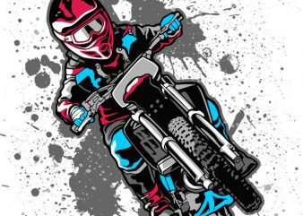 Dirty bike t shirt vector illustration