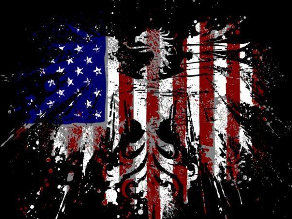 America eagle t shirt vector