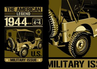 AMERICAN MILITARY t shirt vector
