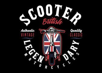 Scooter british buy t shirt design