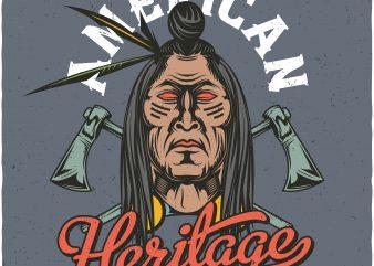 American heritage. Vector T-Shirt Design buy t shirt design